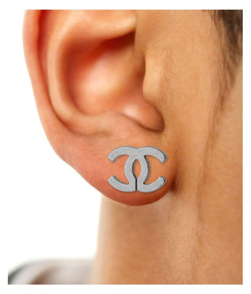 66523e3c5 Voylla Silver Stylish Ear Stud For Men: Buy Online at Low Price in ...