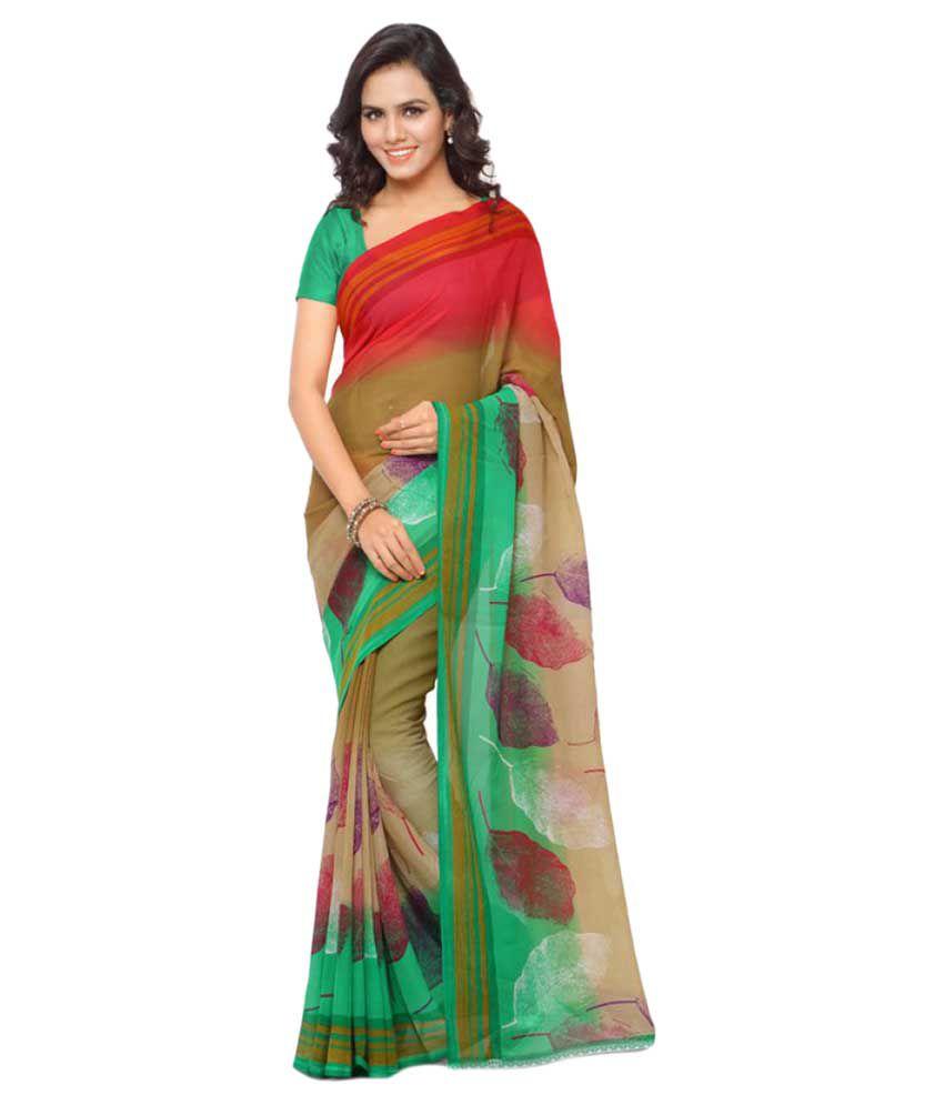 Anand Sarees Multicoloured Georgette Saree