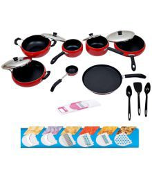 Apricoat Non-Stick Cookware Set 11 Cookware Sets