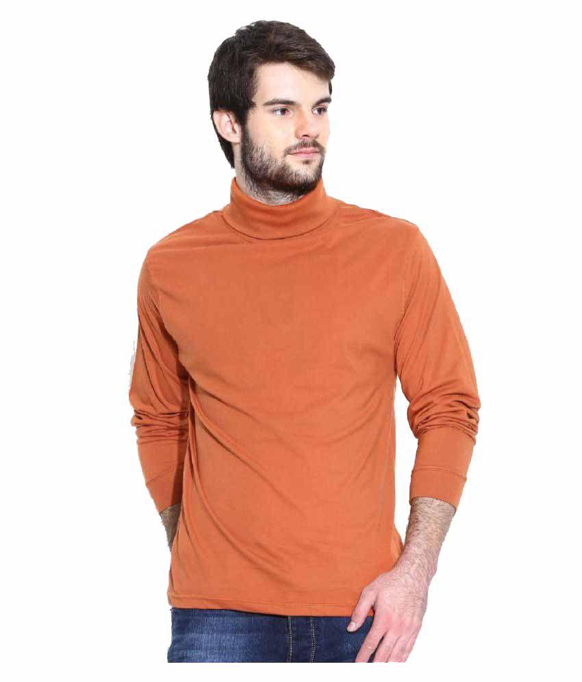 Dream of Glory Inc. Orange High Neck T-Shirt
