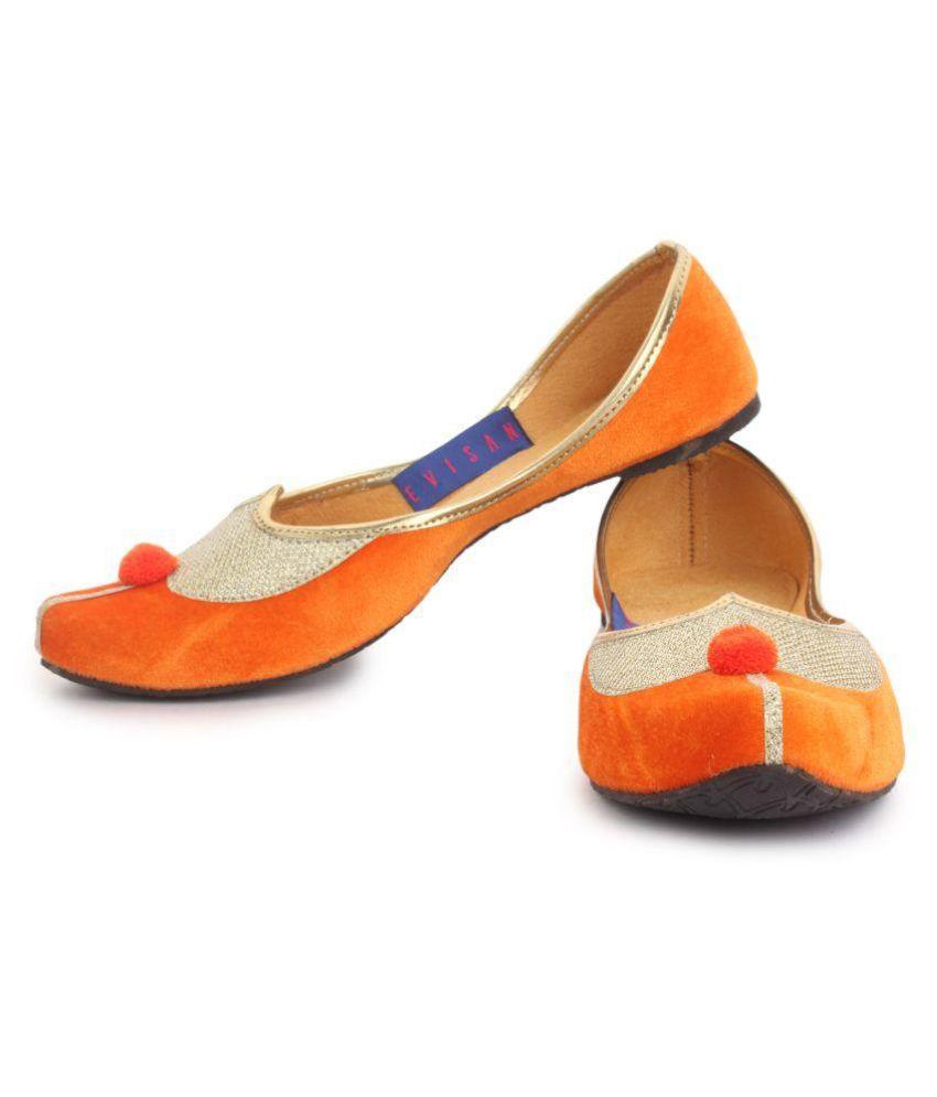 Evisan Multi Color Flat Ethnic Footwear