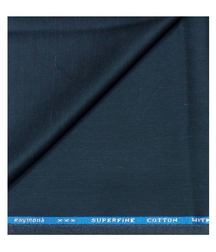 Raymond Blue 100 Percent Cotton Unstitched Pant Pc