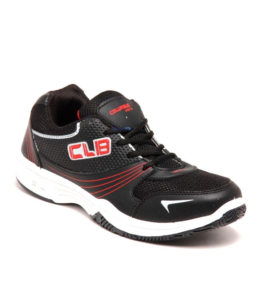 Columbus Black Running Shoes