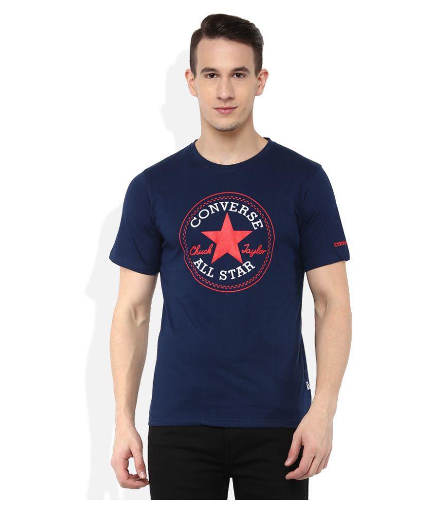 Converse Navy Round T-Shirt