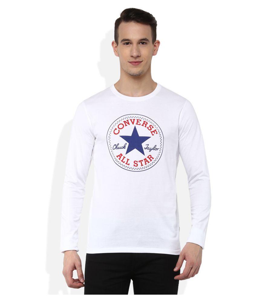 Converse White Round T-Shirt