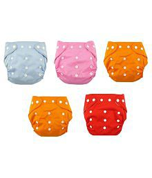 N&M Multicolor Nappies - Pack of 5