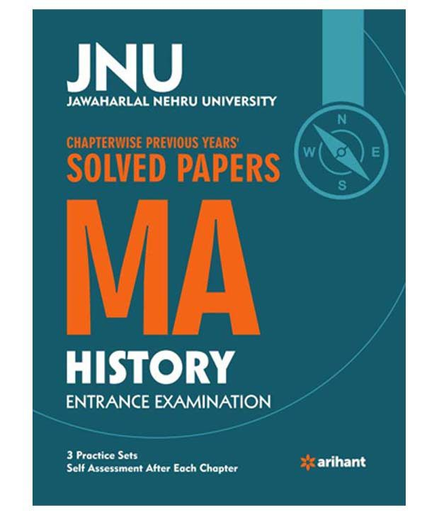 JNU   Chapterwise Previous Years      Solved Papers MA History     Snapdeal