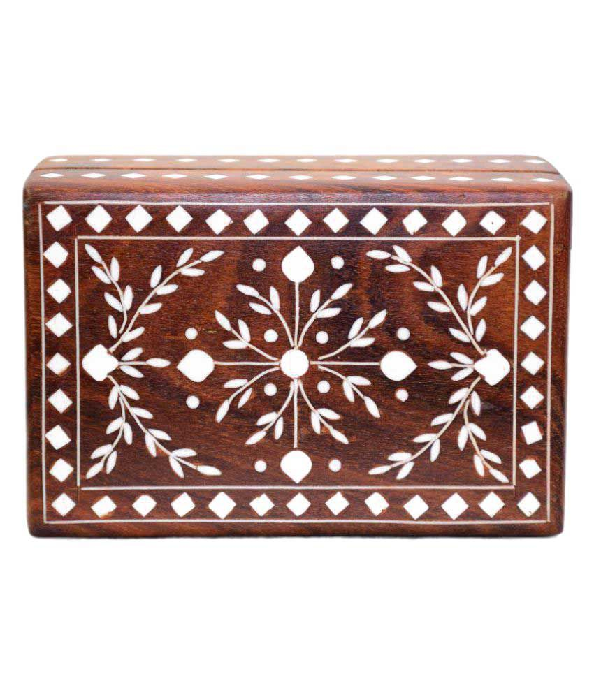 ARZ Brown wooden Jewellery Box