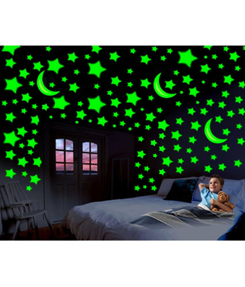 161a5db17 ... Large Star PVC Wall Stickers - Buy Divi Glowing radium 3 Moon 54 Medium  Star 57 Large Star PVC Wall Stickers Online at Best Prices in India on  Snapdeal