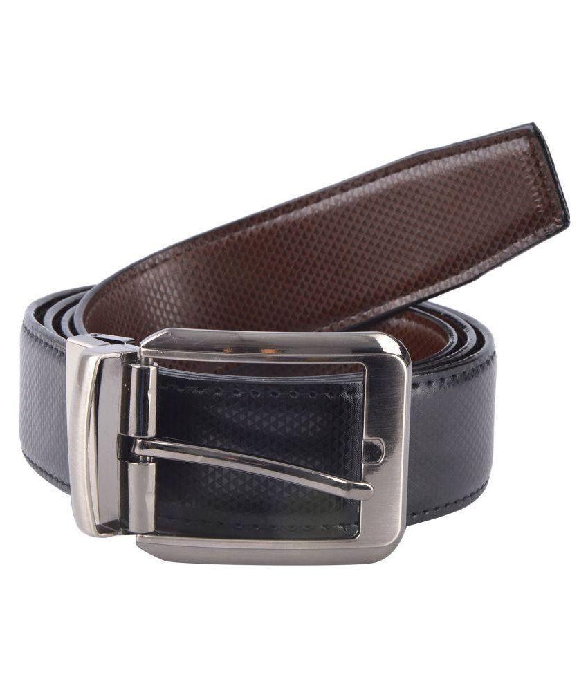 Desi Saga Black Leather Casual Belts