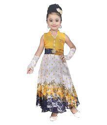 Cute Fashion Kids Girls Baby Princess Popcorn Net Party Wear Flower Dresses Clothes