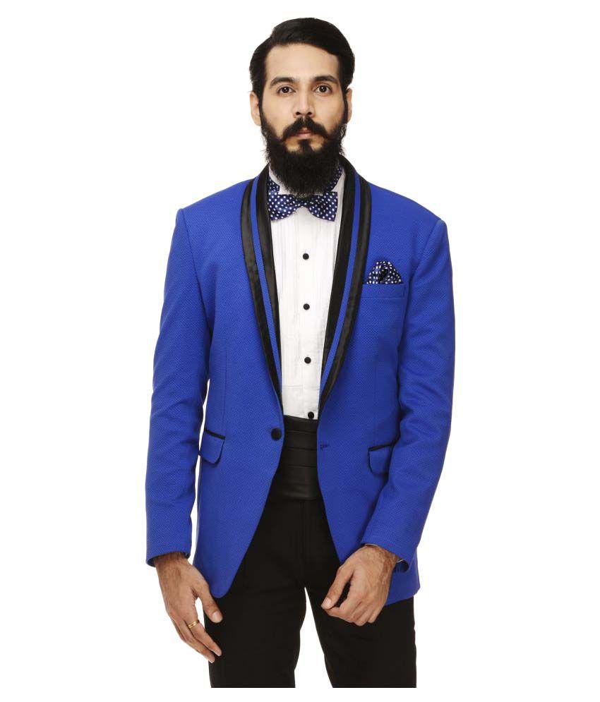 Monteil & Munero Blue Solid Casual Blazers