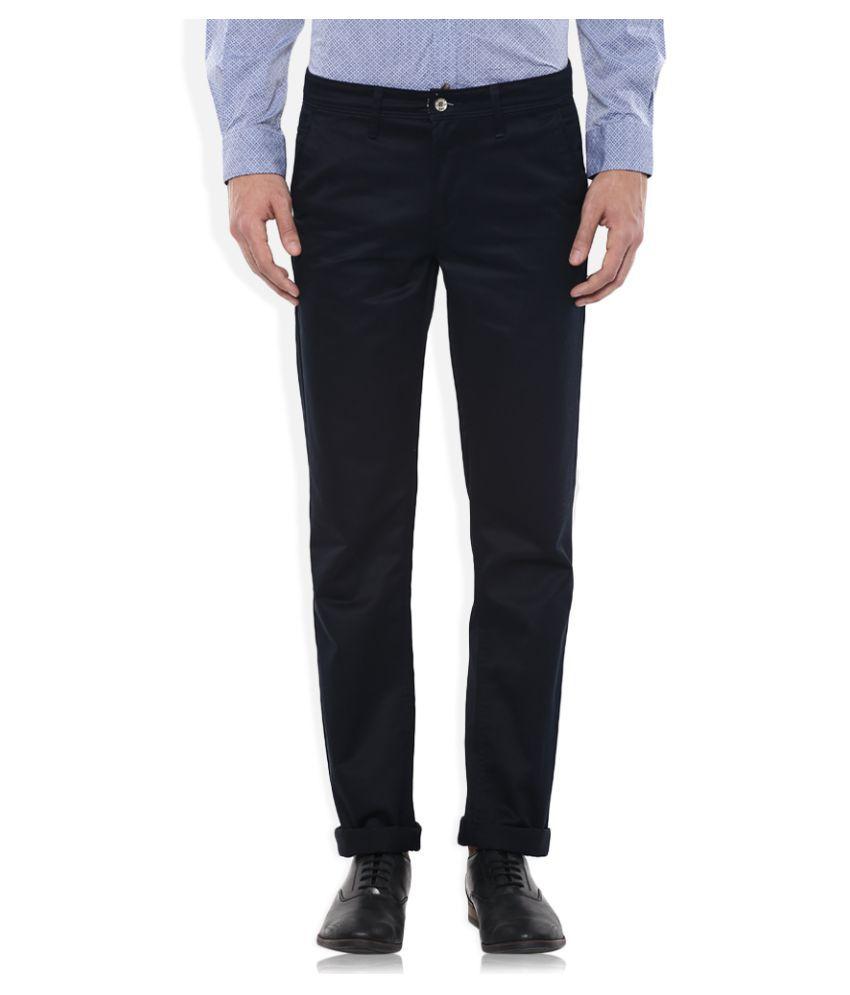 SIN Black Slim Flat Trouser