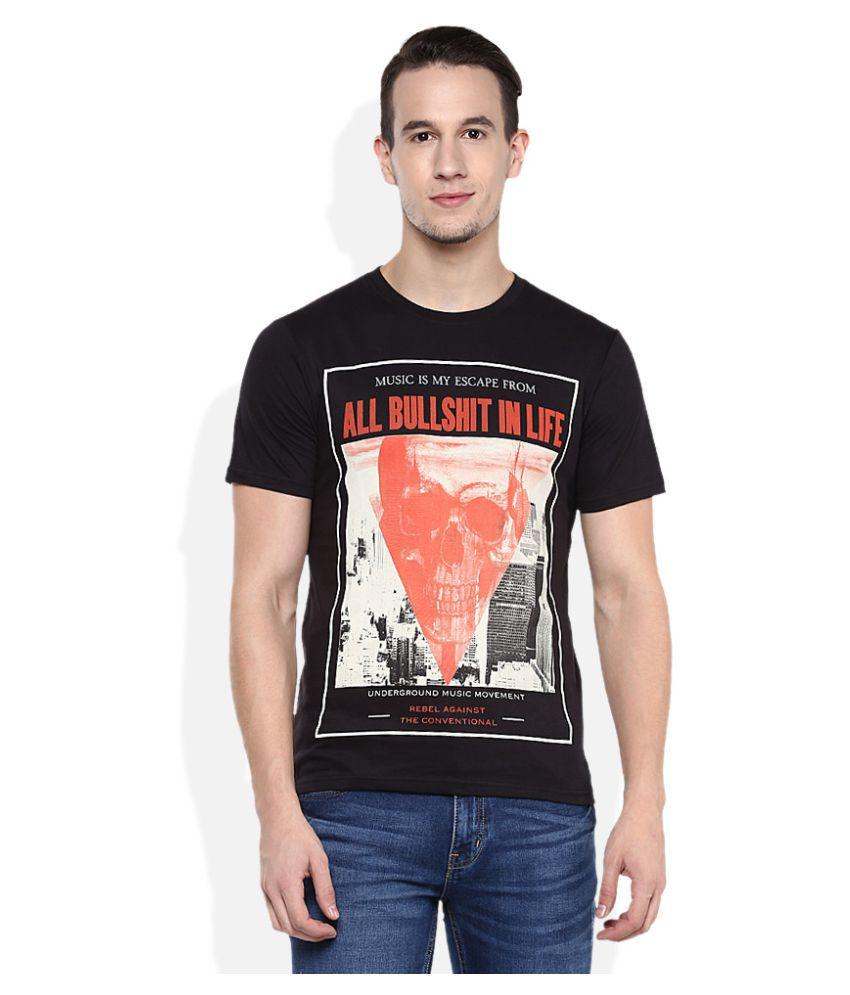 UMM Black Round T-Shirt