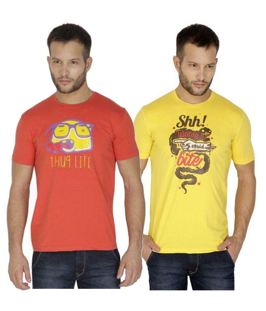 Tarkshyam Trendz Multi Round T-Shirt