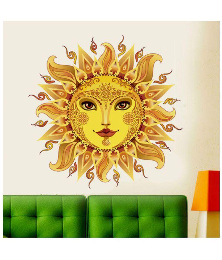 Wall Dreams Sun God - Surya Pvc Wall Stickers