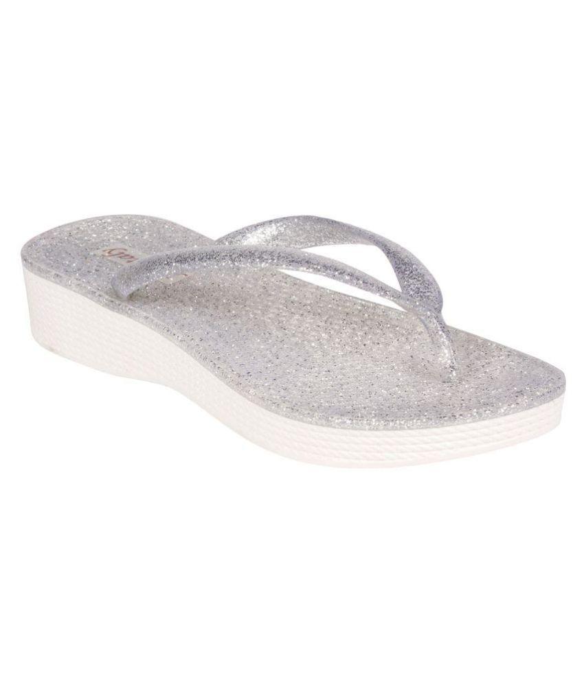 Femitaly Silver Slippers