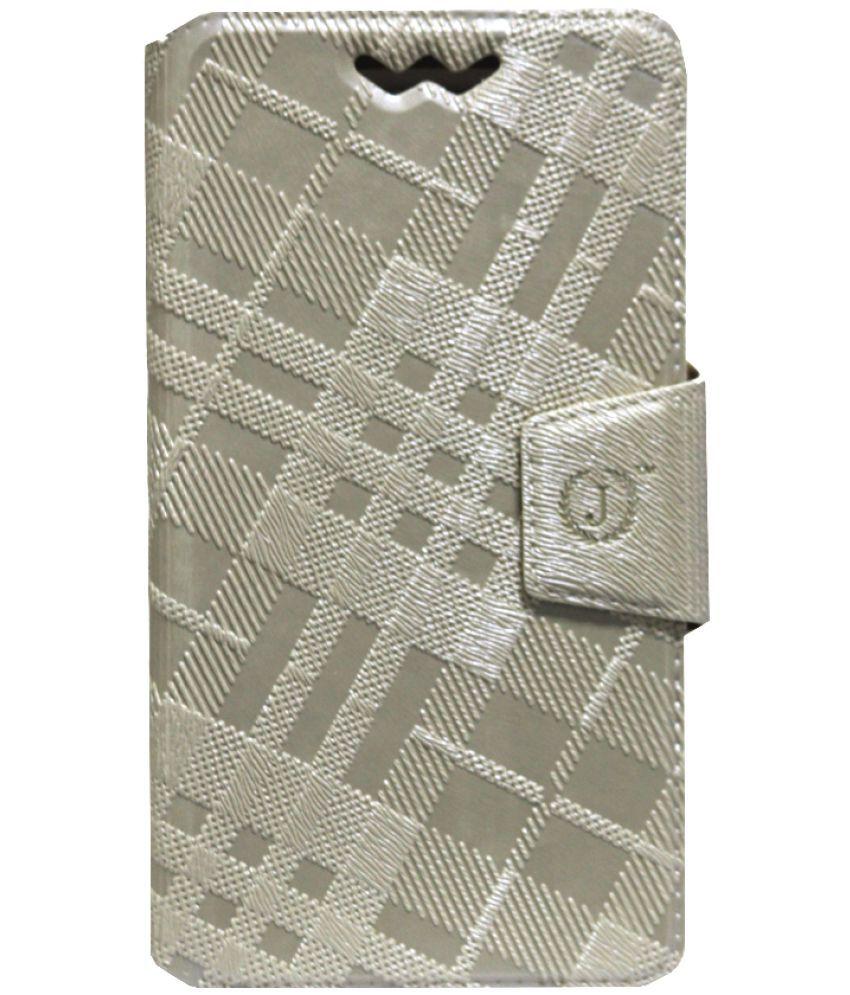 Samsung Galaxy J2 (2016) Flip Cover by Jojo - Golden