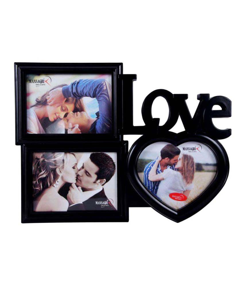 Archies Collage Frames Plastic Wall Hanging Black Collage Photo Frame