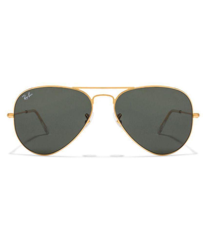 f60fd63dda Ray-Ban Green Aviator Sunglasses ( RB3025 L0205 58-14 ) - Buy Ray ...