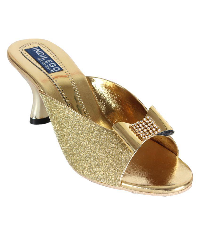 Indilego Gold Heels