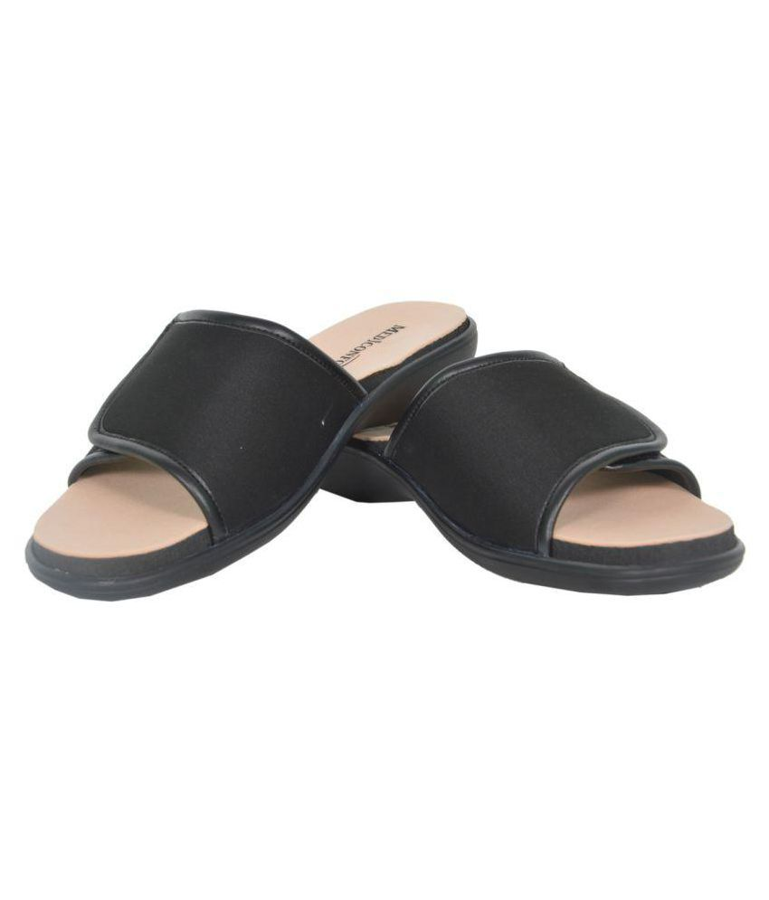 Mediconfort Black Slippers