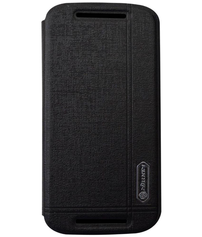 Motorola Moto E2 Flip Cover by Rdcase - Black
