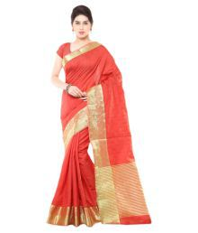 Varkala Silk Sarees Red Chanderi Saree