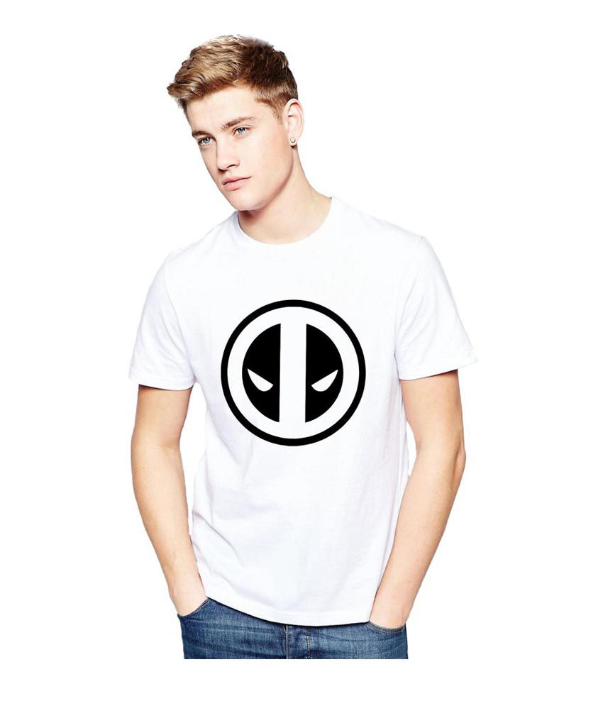 Alen Carter White Round T-Shirt