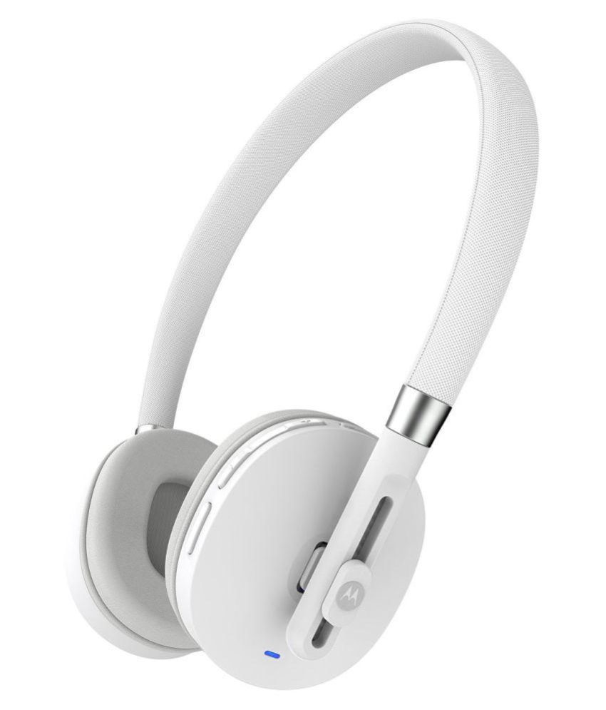 Upto 70% Off On Headphones & Earphones By Snapdeal | Motorola Over Ear Wireless Headphones Without Mic White @ Rs.2,160