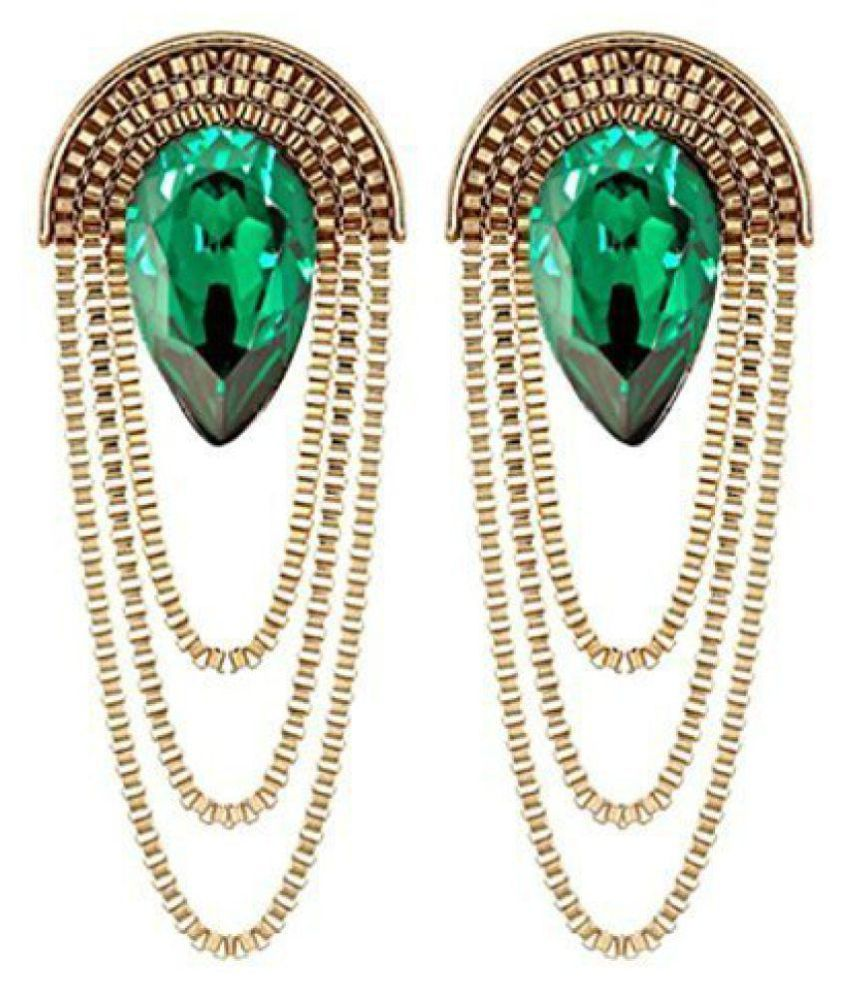 Cinderella Metal Green Dangle & Drop Earring For Girls