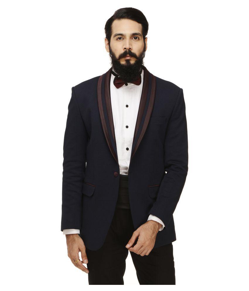 Monteil & Munero Black Solid Casual Blazers