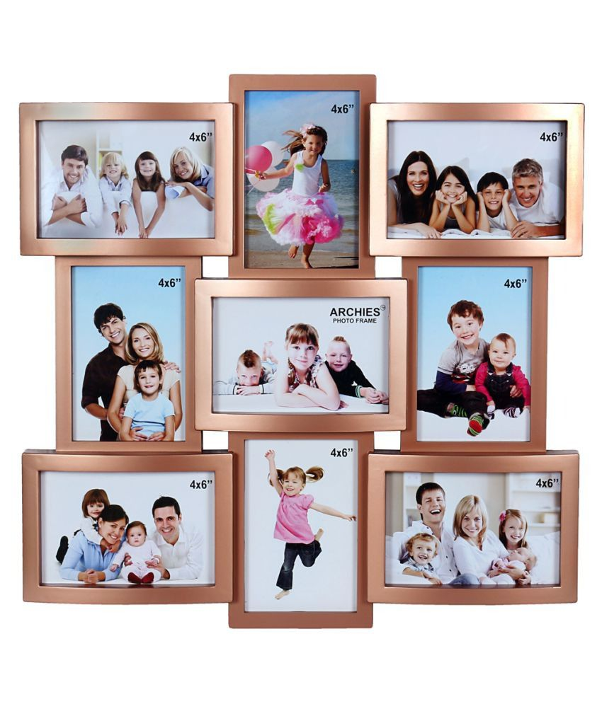 Archies collage frames plastic wall hanging gold collage photo archies collage frames plastic wall hanging gold collage photo frame jeuxipadfo Gallery