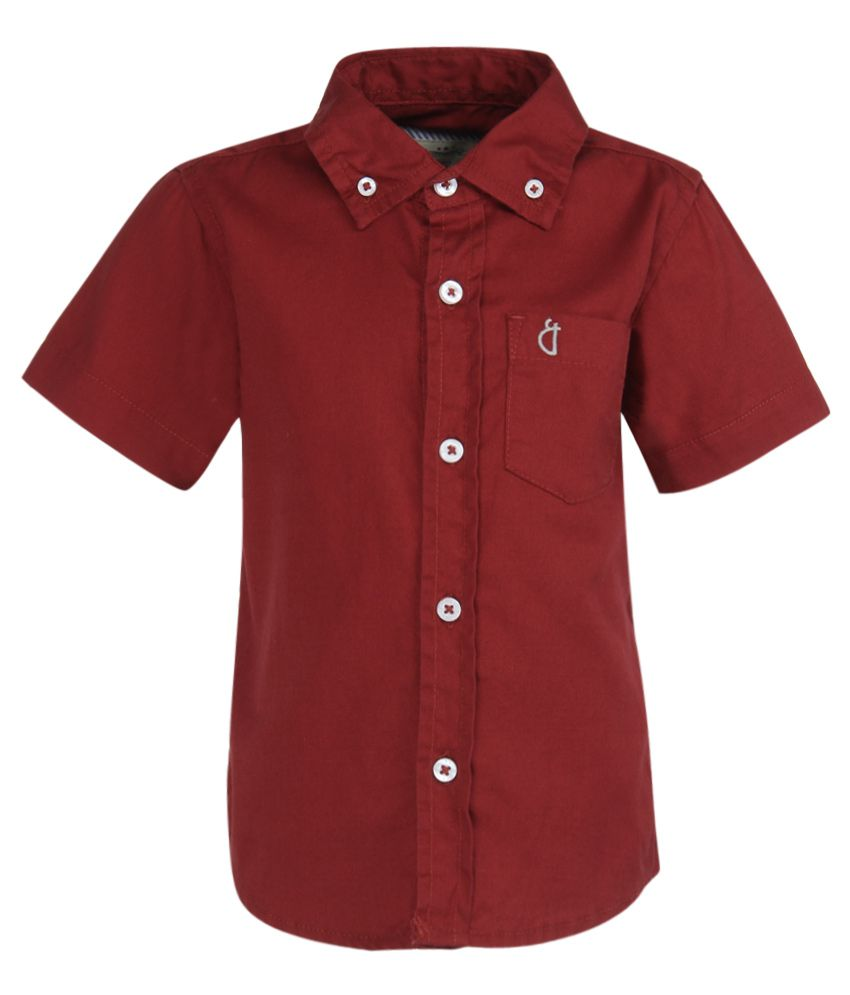 Gini & Jony Red Half Sleeve Baby Shirt