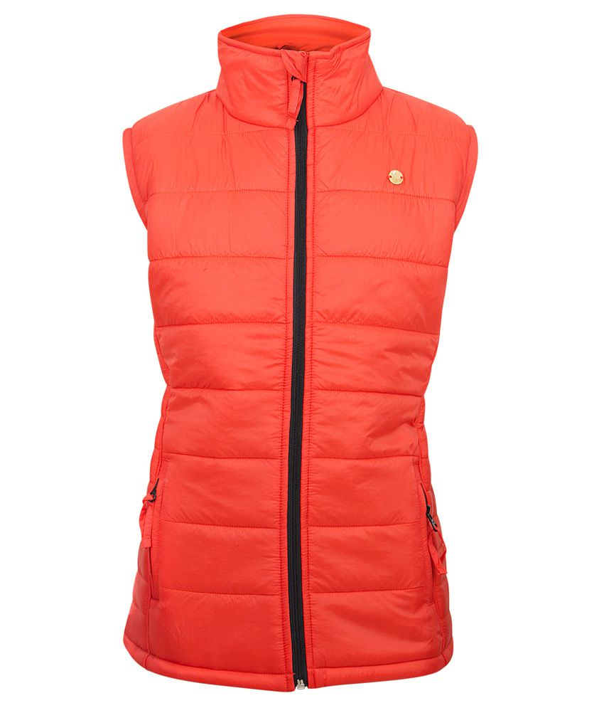 Gini & Jony Red Solid Regular Fit High Neck Jacket