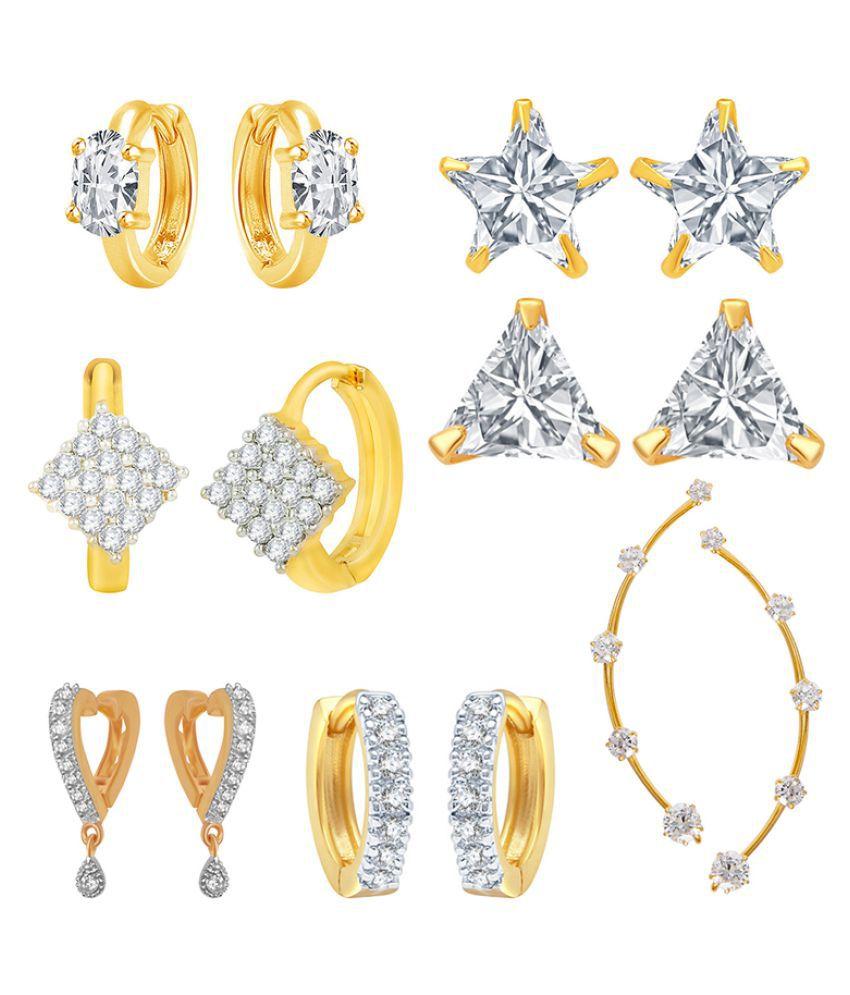 Jewels Galaxy Multicolor  Earrings - Pack of 7