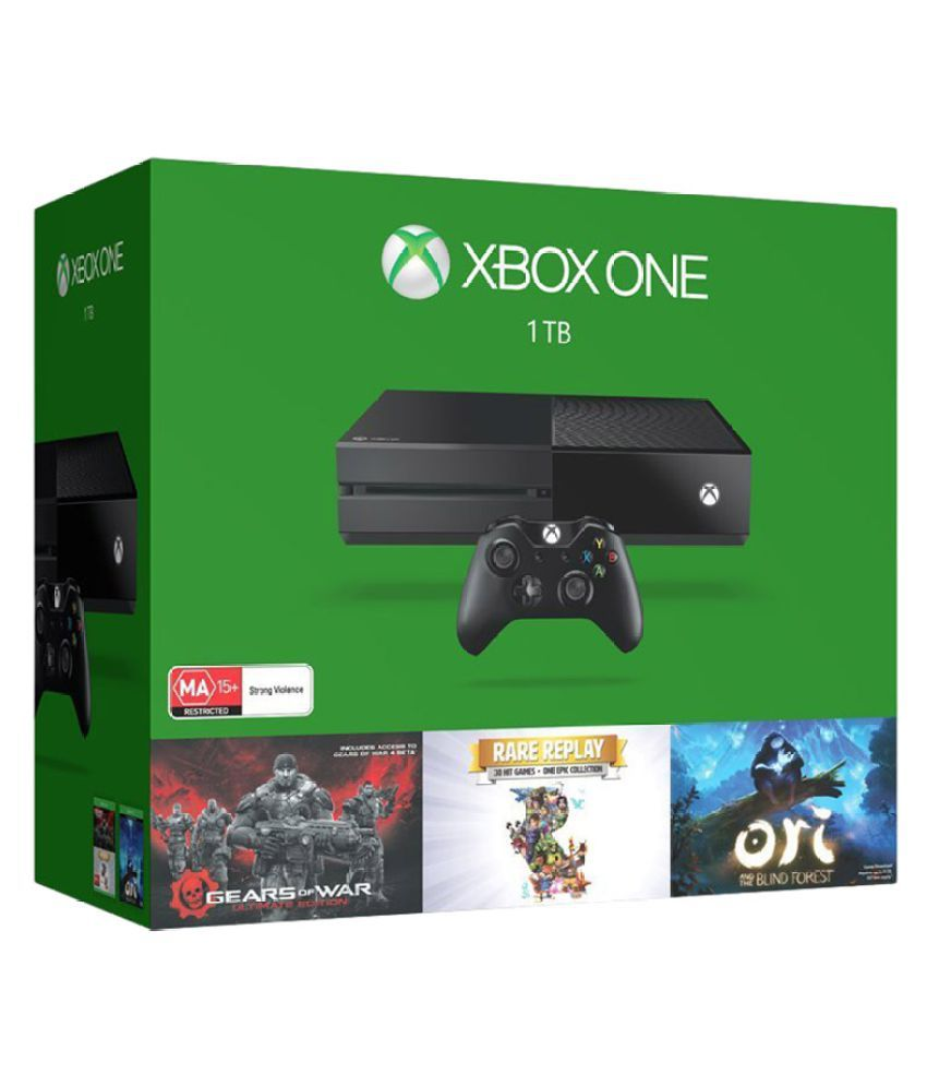 Microsoft Xbox One 1TB Console ( Gears of War: Ultimate Edition/Rare Replay/Orid and the Blind Forest )