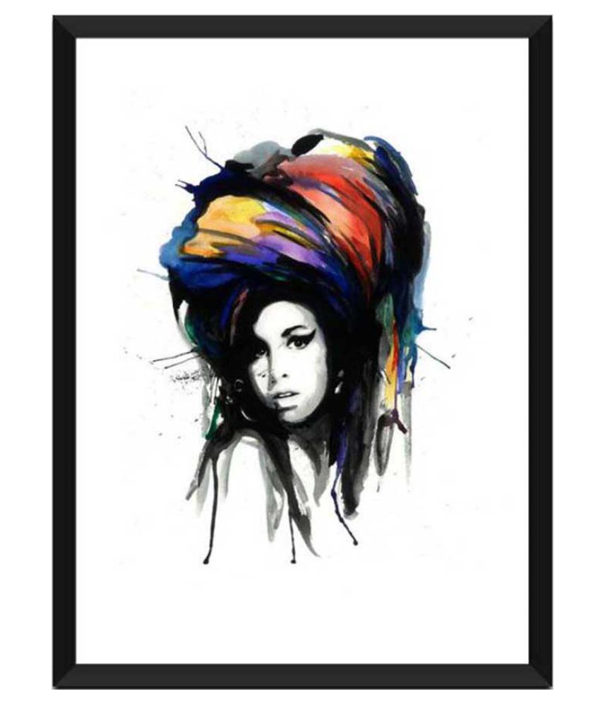 Tallenge Amy Winehouse Art Paper Art Prints With Frame Single Piece