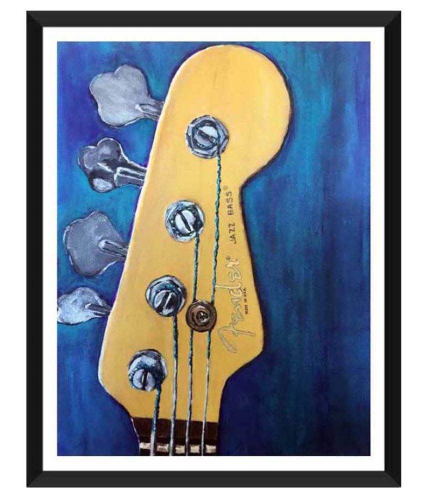 Tallenge Fender Paper Art Prints With Frame Single Piece