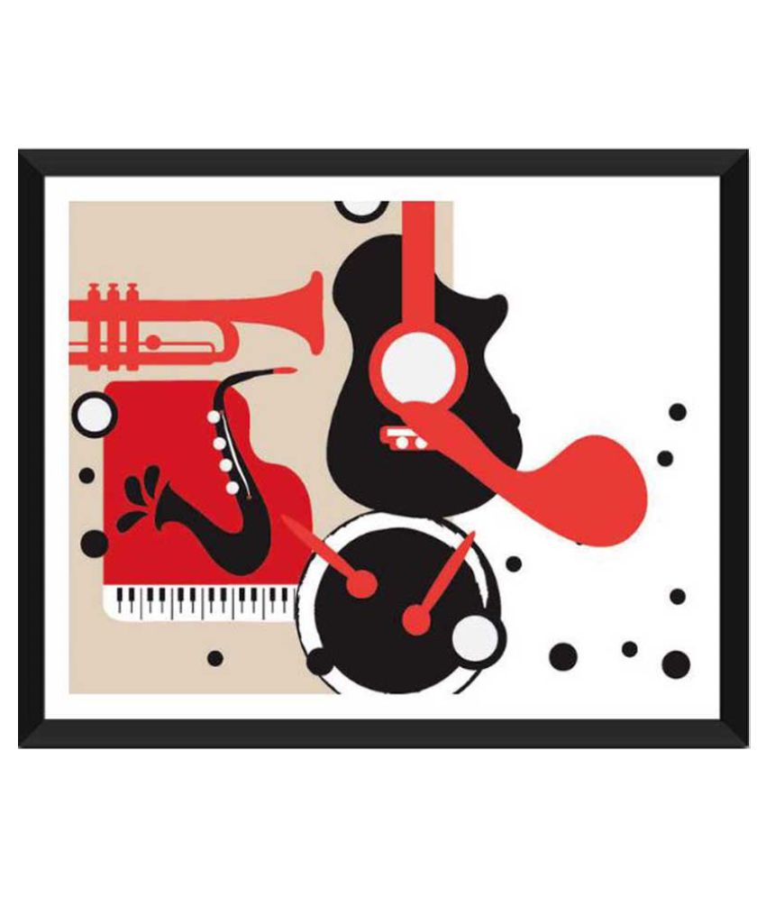 Tallenge Jazz And Blues Paper Art Prints With Frame Single Piece