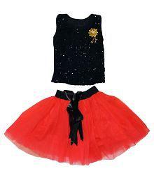 Arshia Fashions Black and Red Dresses