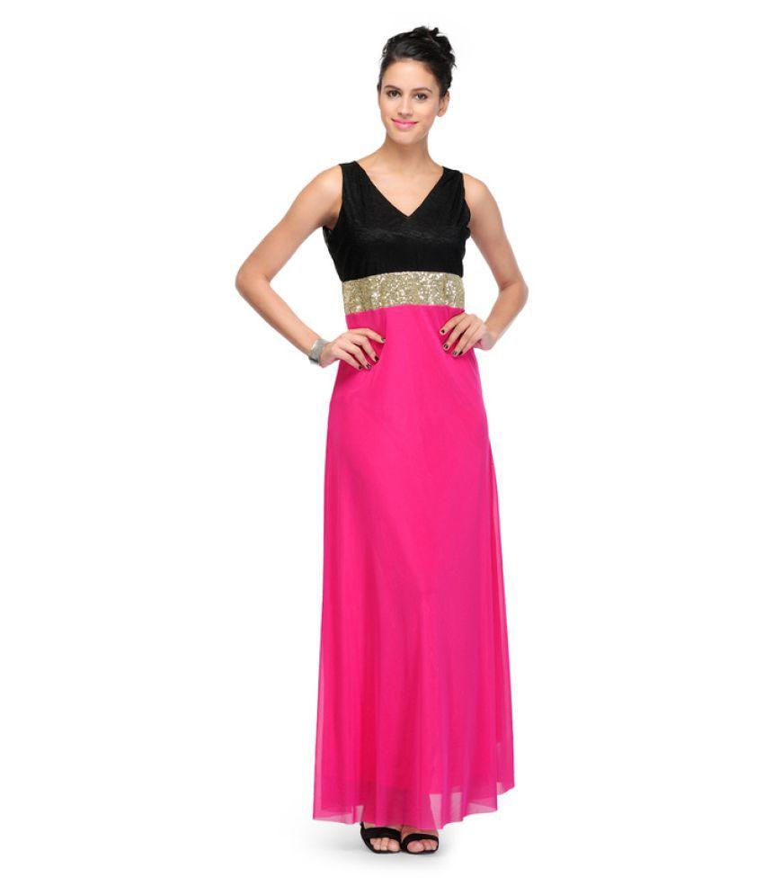 NRS International Pink Viscose Dresses