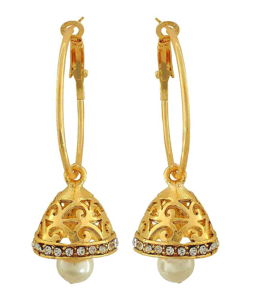 Maayra Golden Bali Earrings