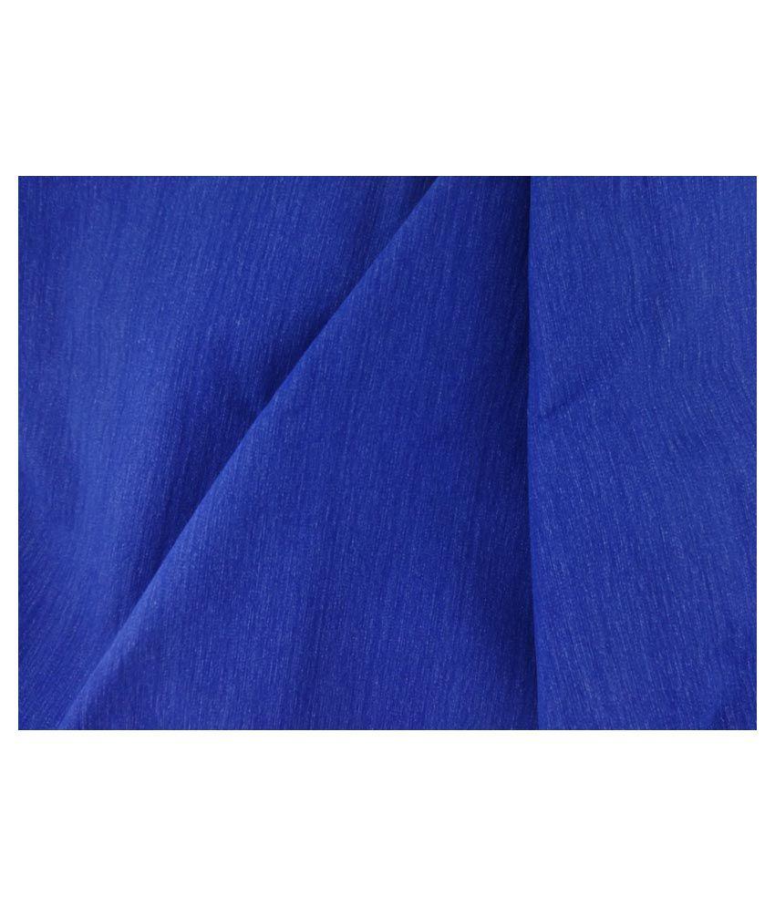 Arvind Blue 100 Percent Cotton Unstitched Pant Pc