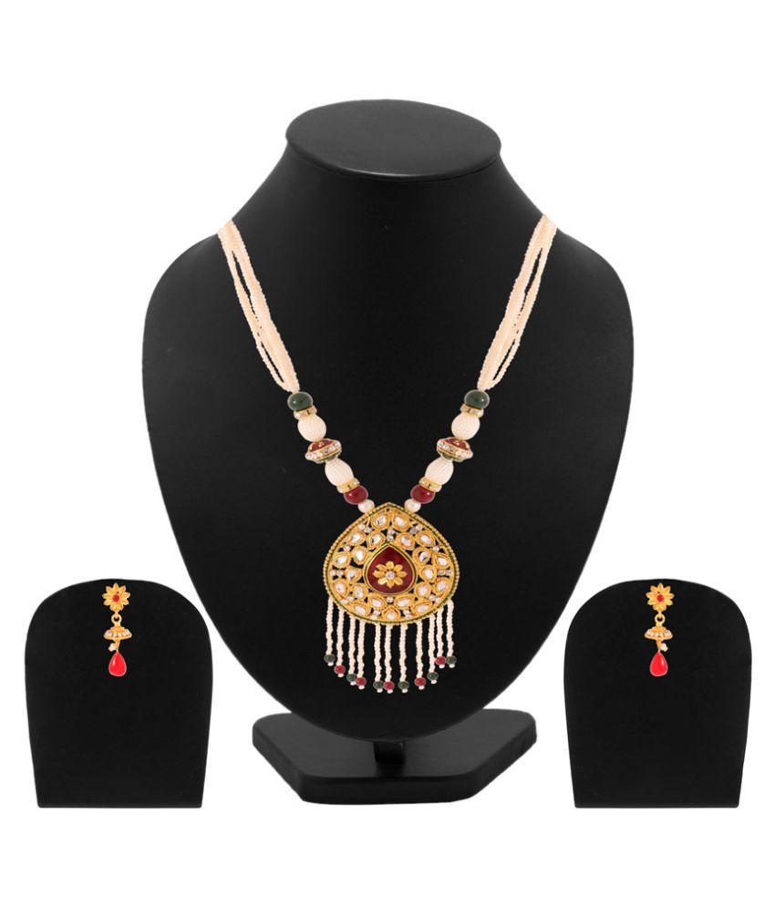 Voylla Multicolour Necklace Set