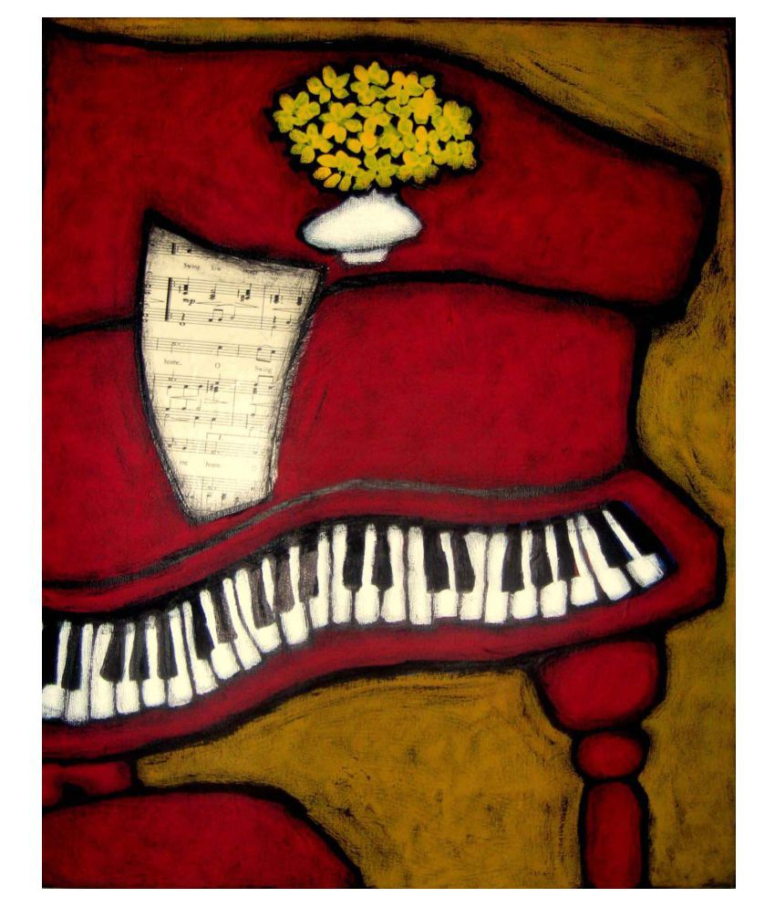 Tallenge The Piano Gallery Wrap Canvas Art Prints With Frame Single Piece