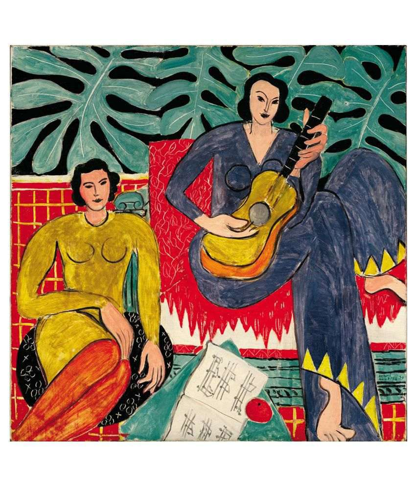 Tallenge La Musique Gallery Wrap Canvas Art Prints With Frame Single Piece