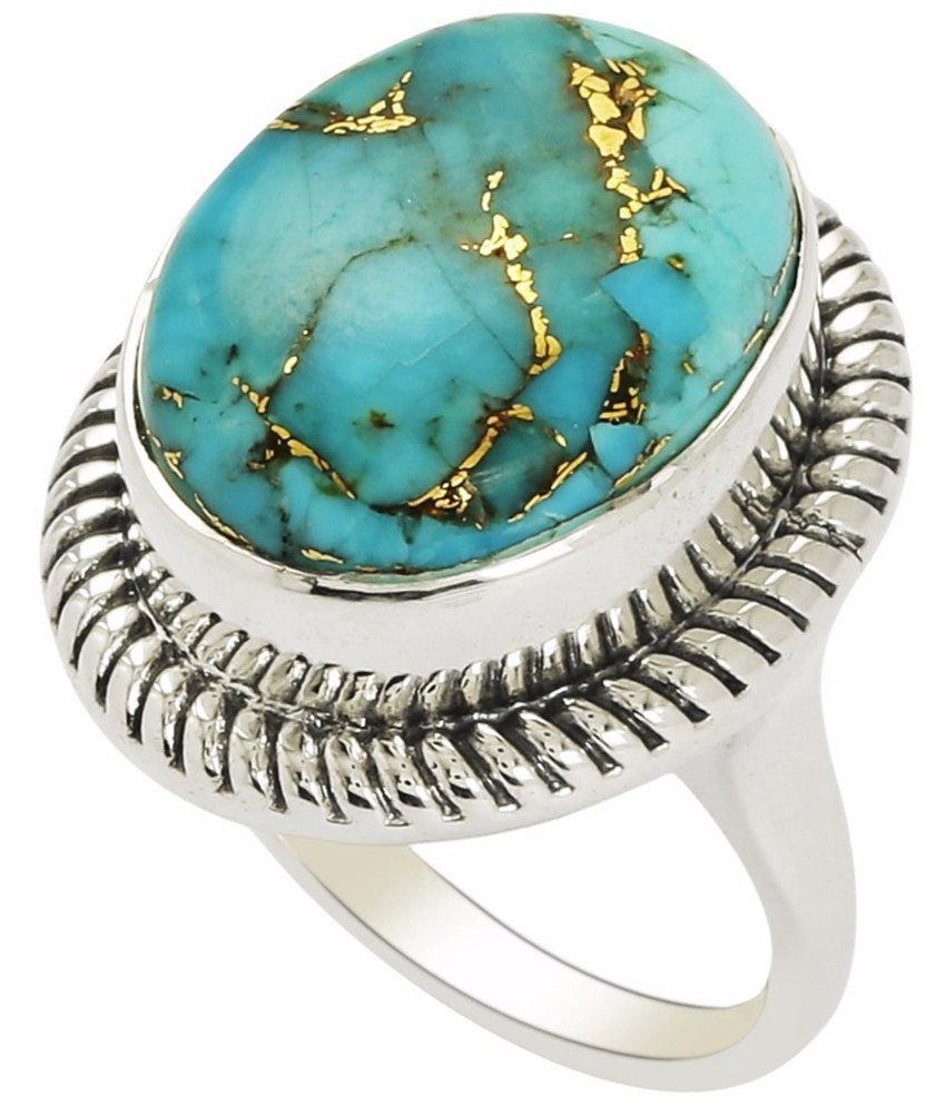 Shine Jewel 92.5 Silver Turquoise Ring