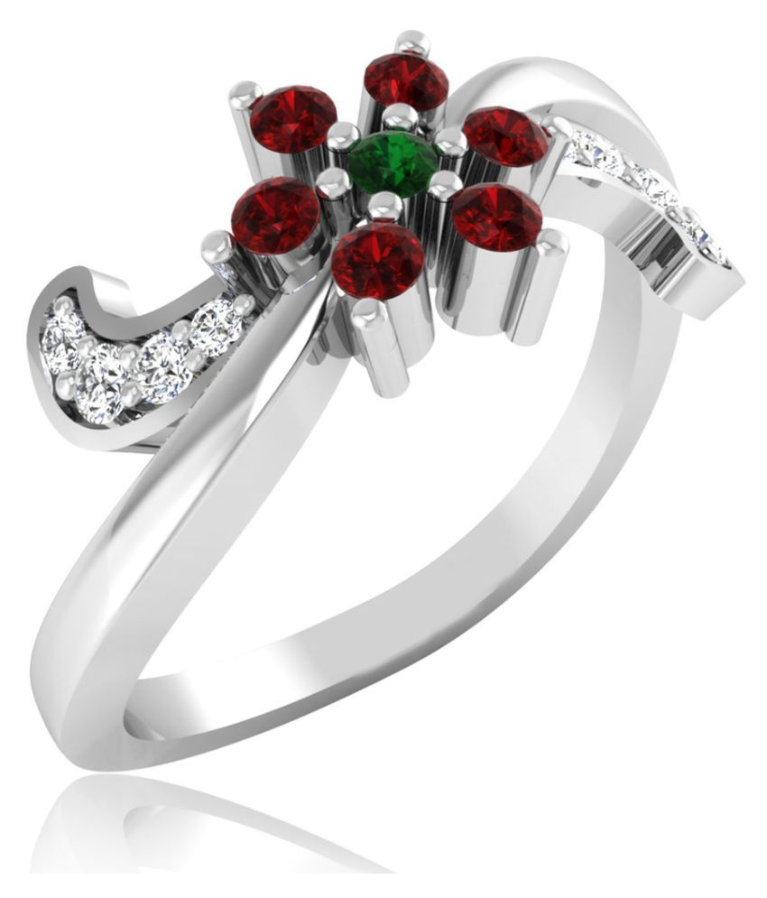 Carat Forever 18k White Gold Ruby Ring