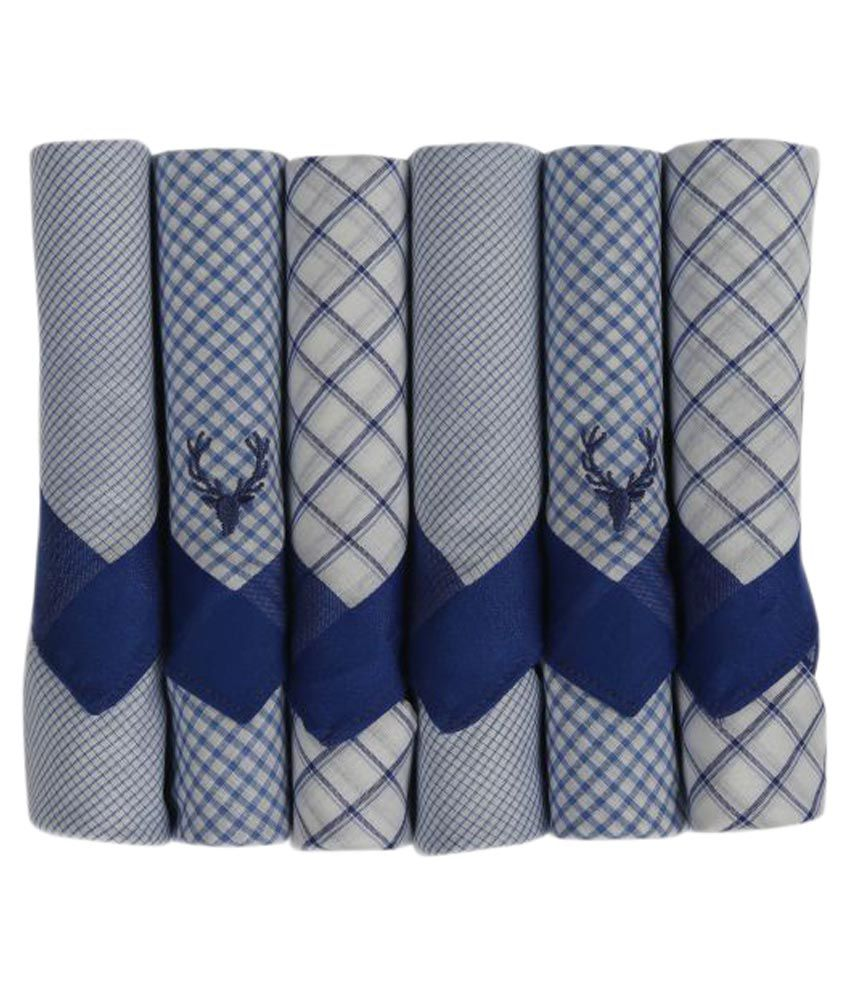 Allen Solly Multicolour Cotton Handkerchief for Men - Pack of 6